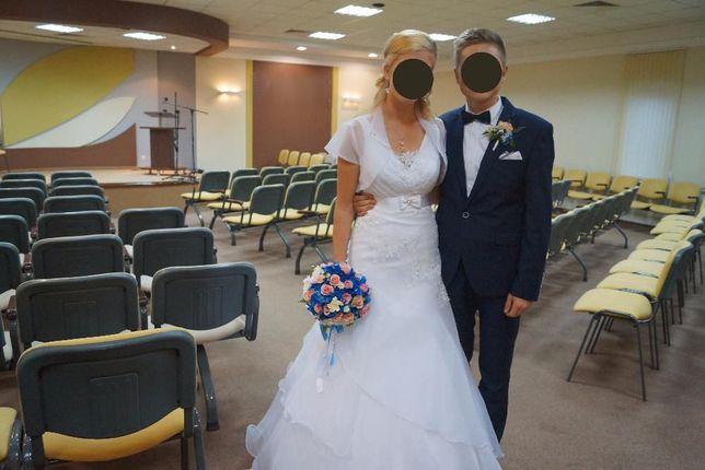 Piękna suknia ślubna 38-40 stan bdb + gratis okazyjna cena