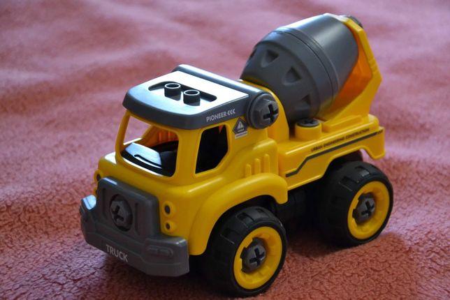 Іграшка розвиваюча машинка + конструктор трактор бетономішалка автобус