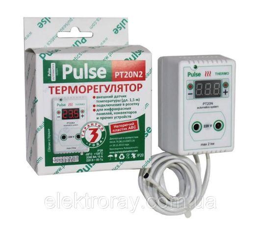 Терморегулятор РТ20-N2 розеточный цифровой Pulse (-55°C.. +125°C)