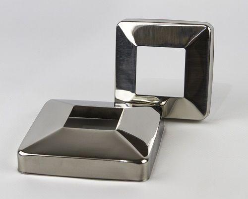 Покрышка декоративная для перил из нержавеющей стали, чашка от 22 грн.