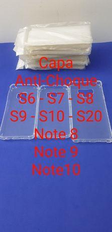 Capa Anti Choque S6 - S7 - S8 - S9 - S10 - S20 - Note 8 - 9 - 10 - 20