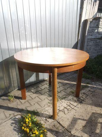 Stół okrągły rozkładany PRL lata 60
