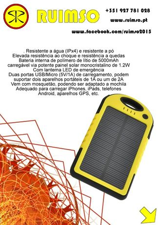 Carregador Solar (Powerbank)