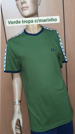 T-shirt verde Fred Perry