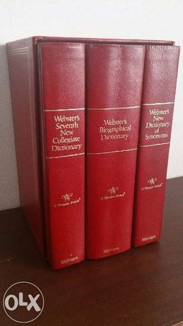 Coleção de três dicionários Webster