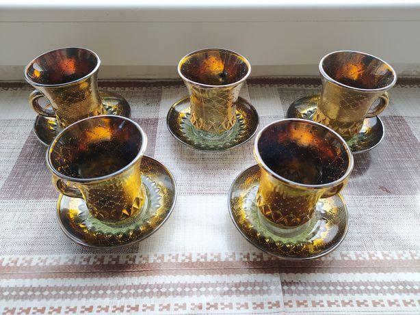 Кофейный набор, чашки и блюдца