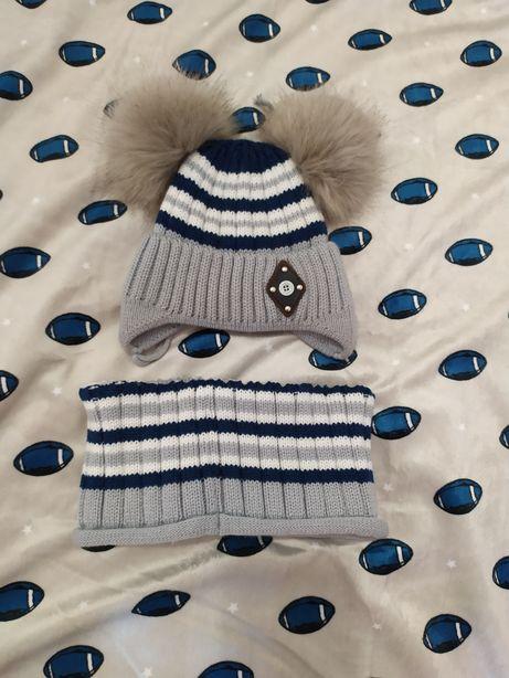 Зимня шапочка для хлопчика