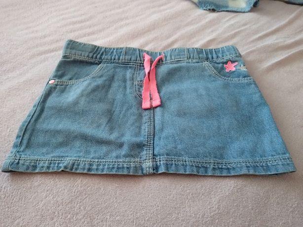 Mini spódniczka dżinsowa r. 92