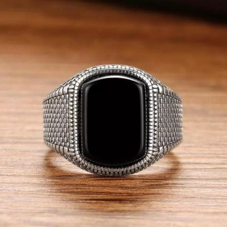 Серебряное  мужское винтажное кольцо 925 пробы