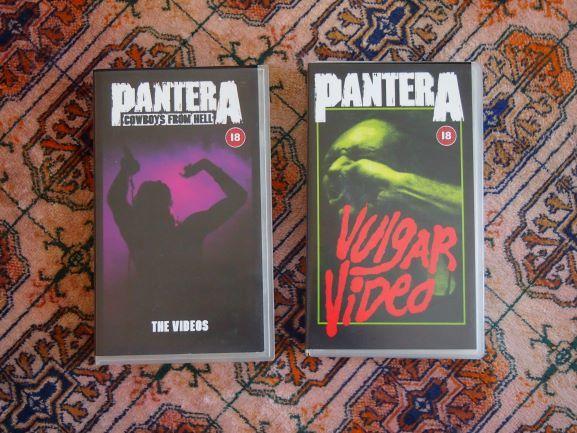 "tPantera ""Cowboys From Hell"" e ""Vulgar Video"" VHS"