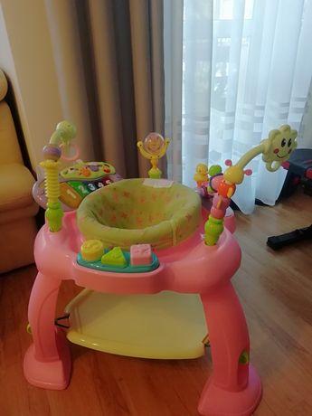 Lean Toys Multifunkcyjna grająca trampolinka