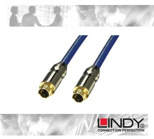 cabo blindado dourado LINDY S-Video 10m (Alta Qualidade)