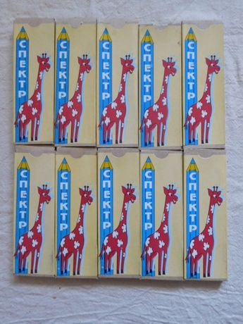 Карандаши цветные Спектр Самоцветы СССР 10 упаковок