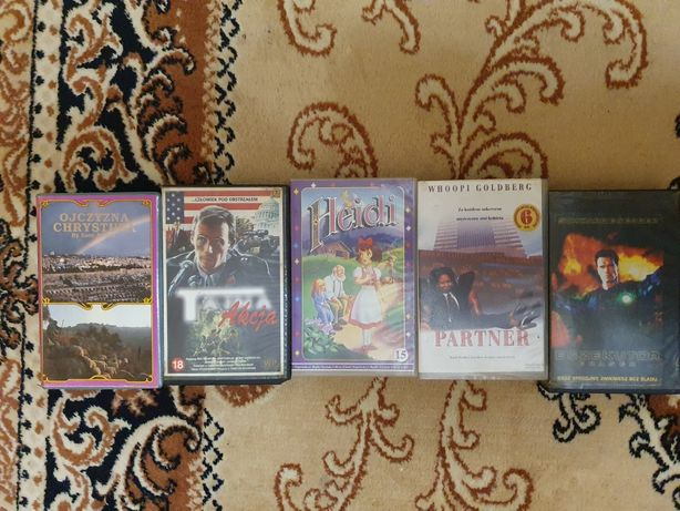 Kasety VHS komplet, cena za komplet
