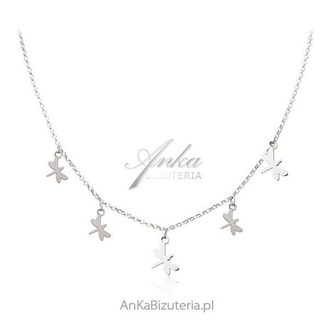 ankabizuteria.pl rubin syntetyczny Srebrny naszyjnik z WAŻKAMI