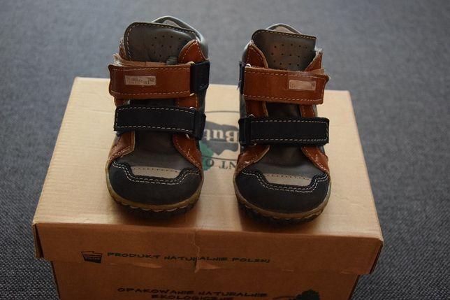 Skórzane buciki trzewiki firmy Ren But rozmiar 21 jesień wiosna