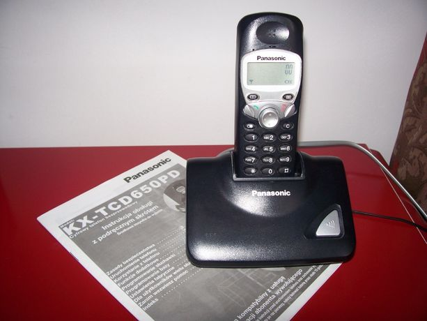 Telefon cyfrowy bezprzewodowy dect Panasonic baza
