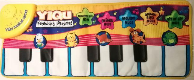 Музыкальный сенсорный коврик пианино Keyboard Playmat