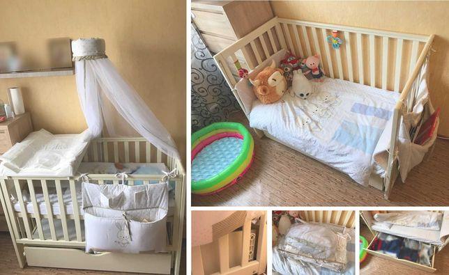 Детская кроватка Верес Соня ЛД 13 (с ящиком), матрацом в отличном сост