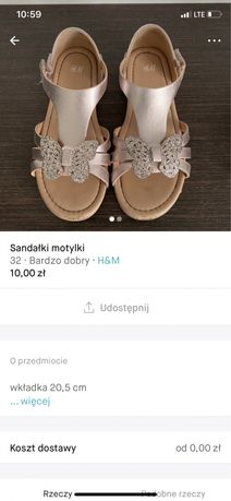 Sandalki motylki h&m