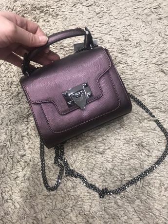 Кожаная сумка сумочка через плечо