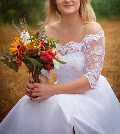 Suknia ślubna 161 cm+10 cm obcas
