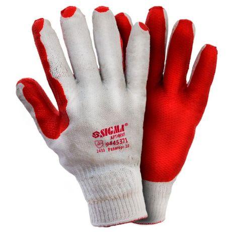Перчатки стекольщика защитные манжет покрытие латекс Sigma 9445371