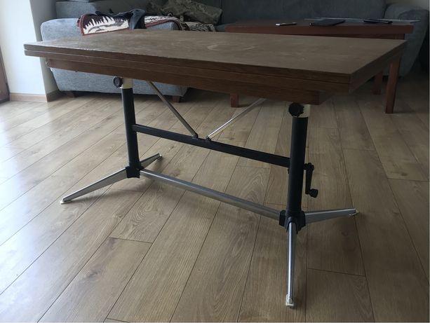 Stolik rozkładany (110x110 / 110x55) z regulacją wysokości