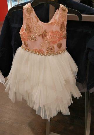 Śliczna sukienka tiulowa 2 latka AMERICAN Princess