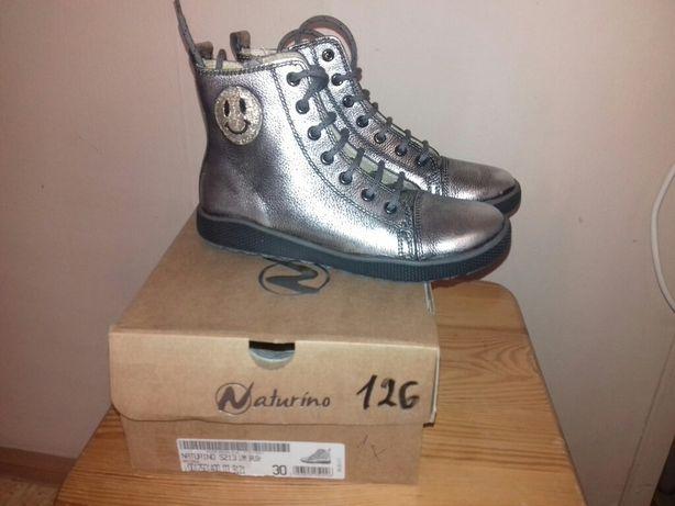 Нове шкіряне взуття чобітки Naturino 30 розмір