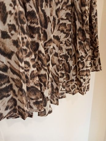 Reserved nowa elegancka spódnica panterka 42