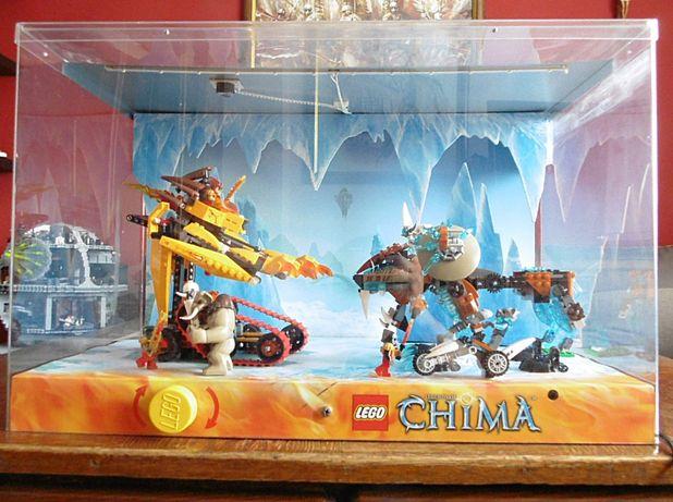 Gablota Lego ekspozycyjna Chima 2014r. .Światło ,dźwięk,ruch.