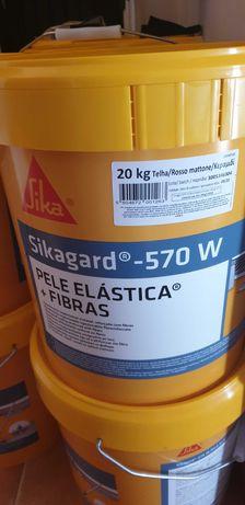 Sikagard Pele elástica +fibras - 570w 20kg - novas (sem abertura)