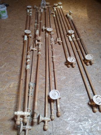 Karnisze drewniane