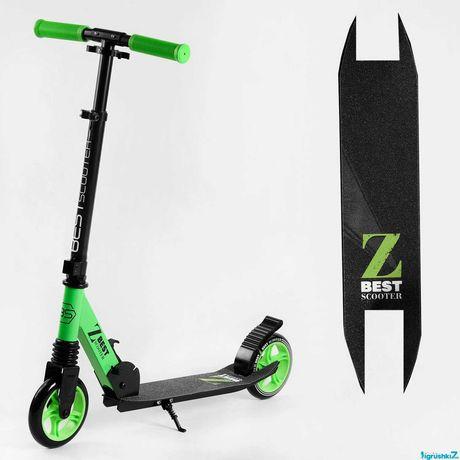"Самокат двухколесный ""Best Scooter"" , колеса PU 145мм, перед амортизат"