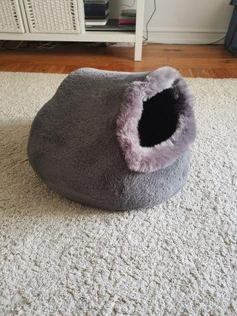 Casota com almofada lavável para gato ou cão pequeno