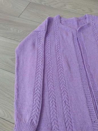 Kardigan nowy, cienki, cieplutki , robiony na drutach