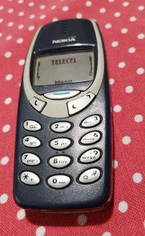 Nokia 3310 azul em bom estado