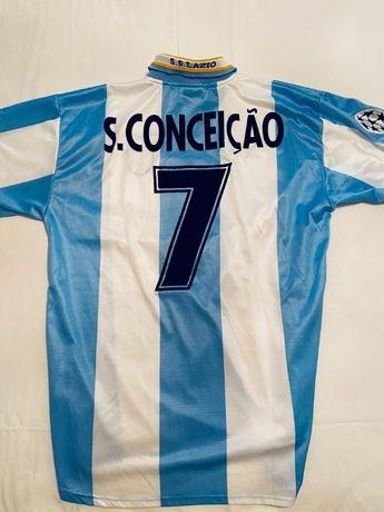 Camisola de jogo da Champions League do Sérgio Conceição, da Lazio