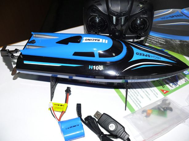 Катер H100 радиоуправляемый, длина 36 см, скорость до 25 км/ч