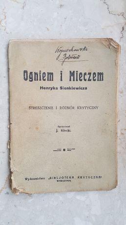 Ogniem i mieczem - Streszczenie i rozbiór krytyczny wyd. 1930