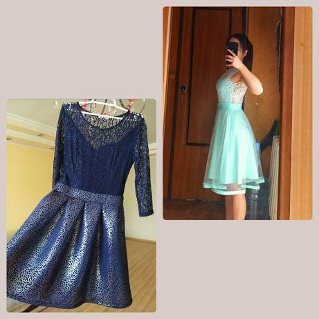 Мятное синее платье бирюзовое праздничное выпускное вечернее пышное