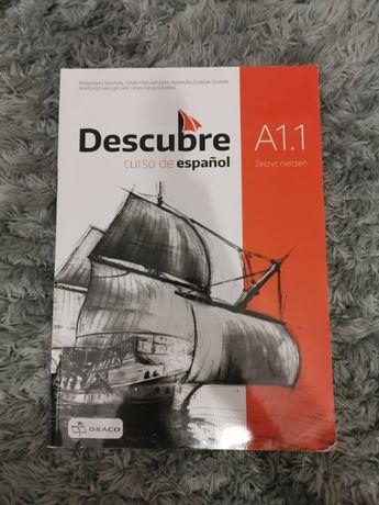 """Zeszyt ćwiczeń do j. hiszpańskiego """"Descubre"""" A1.1"""