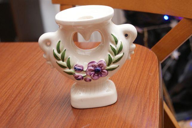 Rosa Ljung stary świecznik Szwecja 13cm