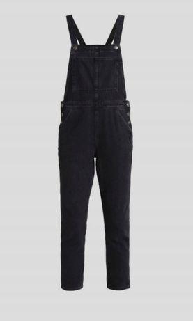 Ogrodniczki długie, jeansy czarne TOPSHOP 40 L 12