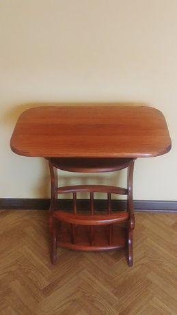 Stolik drewniany , TV (PRL)