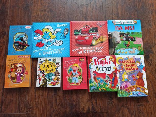 Książki dla dzieci Smerfy, Masza, Tomek Bob i inne