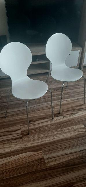 2 krzesła białe Tommerup JYSK