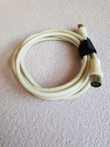Kabel antenowy 1m koncentryczny Coax-Coax koaksjalny