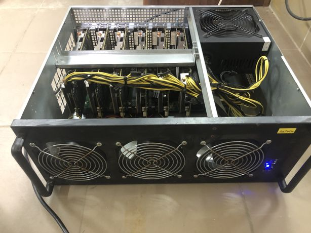 Продам майнер в серверном корпусе RX580/8Gb*6шт(187MH/s)